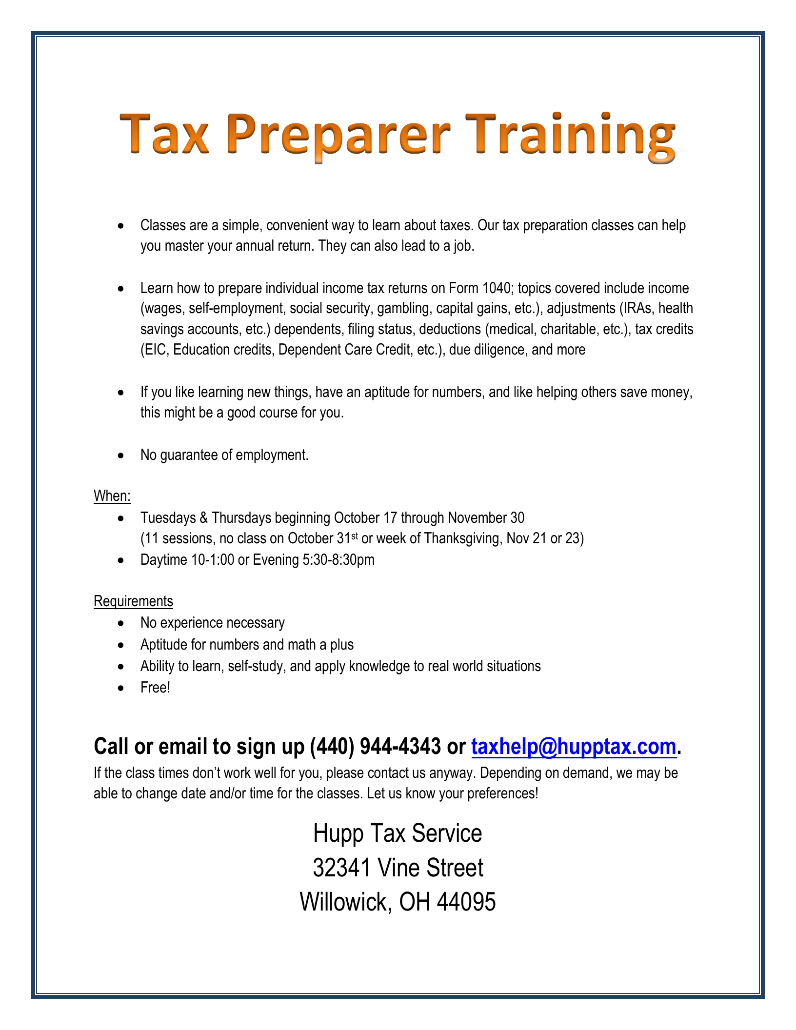 how to become a tax preparer in ga